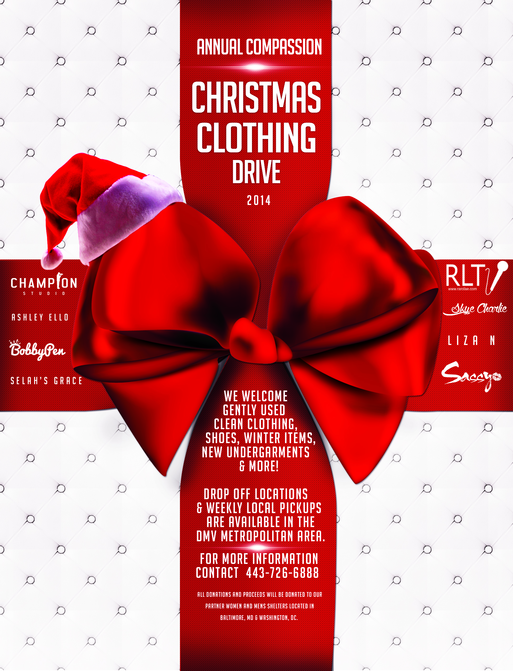 dmv annual christmas compassion clothing clothing drive accepting