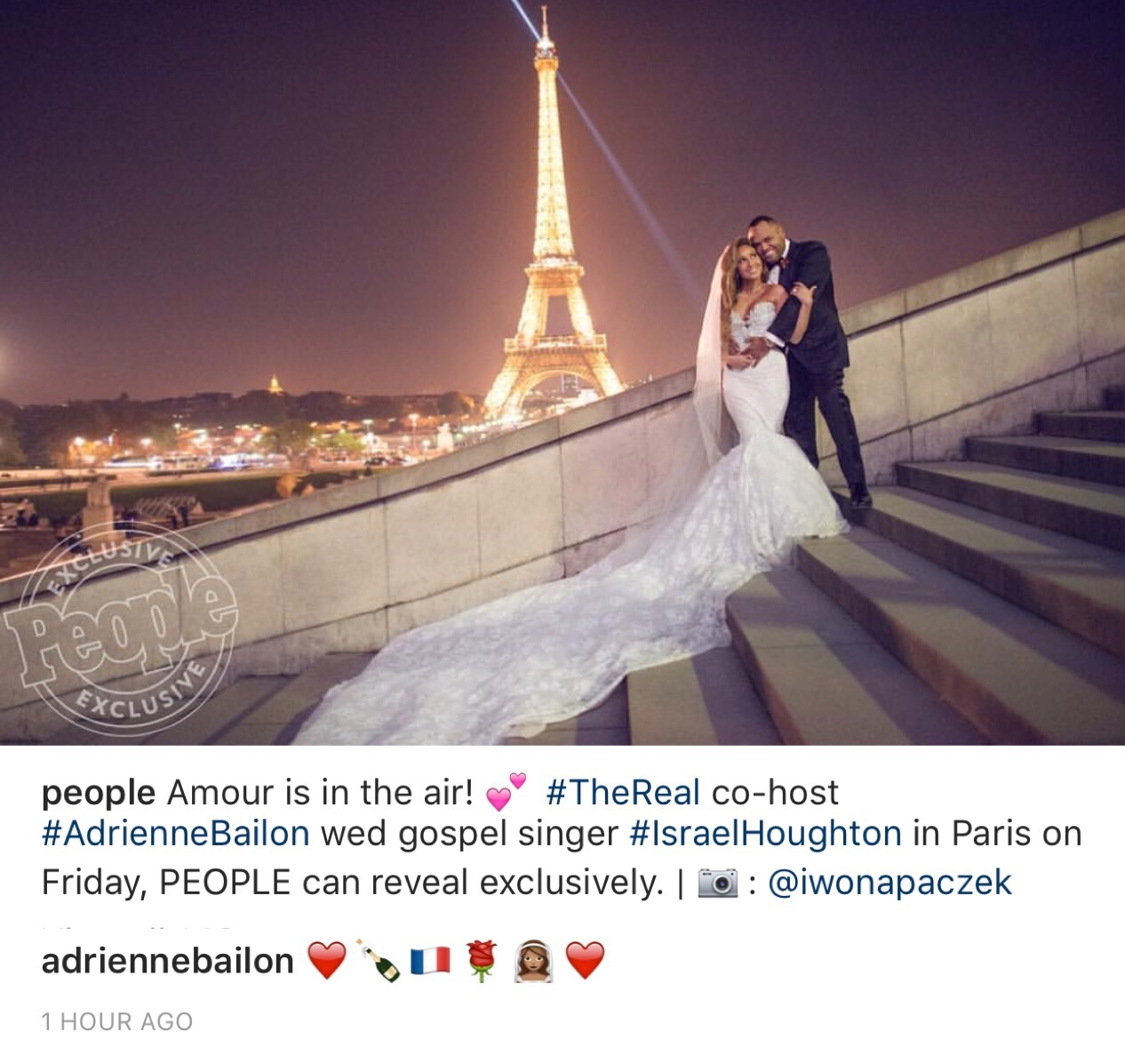 744831f64a Adrienne Bailon Is A Married Woman! Get a Glimpse of Her Parisian Wedding